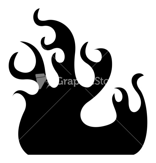 Flames clipart silhouette Vector Stock Fire Flame Flame