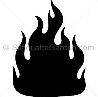 Flames clipart silhouette Silhouettes Silhouette Nature Fire