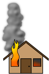 Disaster clipart fire smoke A a and a out