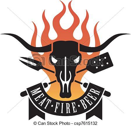 Bull clipart bbq Clip crossed logo Art skull