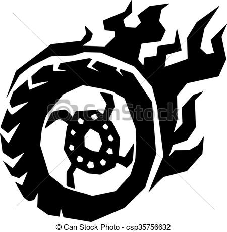 Flames clipart tire Csp35756632 flame Car with flame
