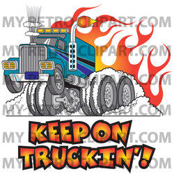 Flames clipart tire smoke Its Rig Truck Tires Illustration