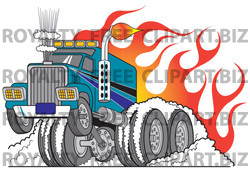 Smoking clipart truck And And Rig Smoking a