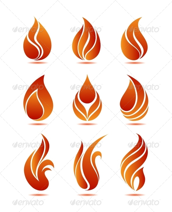 Flames clipart vector With Sets 5  for