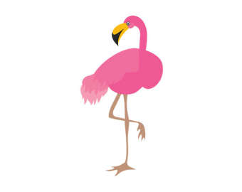 Flamingo clipart Clip Bird Pink Art Etsy