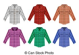 Flannel clipart flannel shirt 181 and free check Illustrations