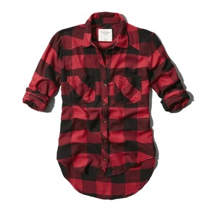 Flannel clipart abercrombie and fitch Benni Polyvore Shirt Abercrombie Plaid