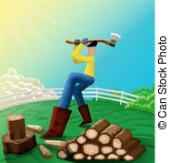 Flannel clipart chopping wood  silhouettes; silhouettes; Stock This