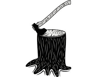 Flannel clipart chopping wood Lumberjack Axe Tool Forest SVG