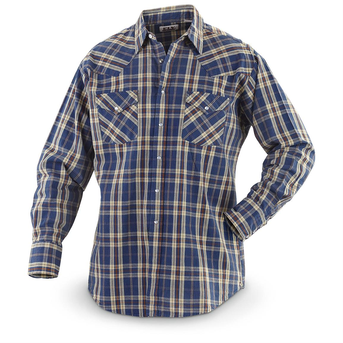 Denim clipart long sleeve shirt Long Blue Western sleeved Plaid