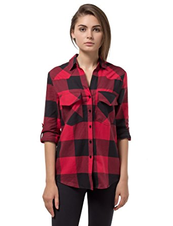 Flannel clipart flannel shirt Plaid Cotton Long Red Flannel