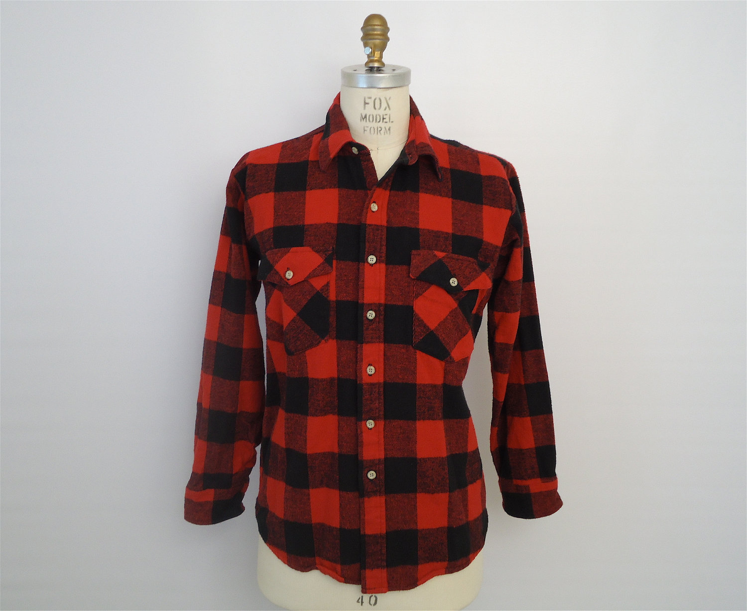 Flannel clipart mens red Buffalo shirt item? Red check