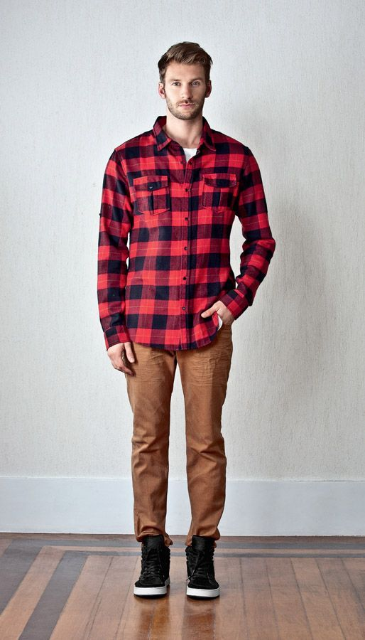 Flannel clipart mens red Pinterest Fashion w/ Cargo about