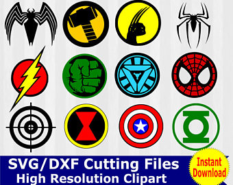 Flash clipart avenger Svg Superhero Bundle Etsy clipart