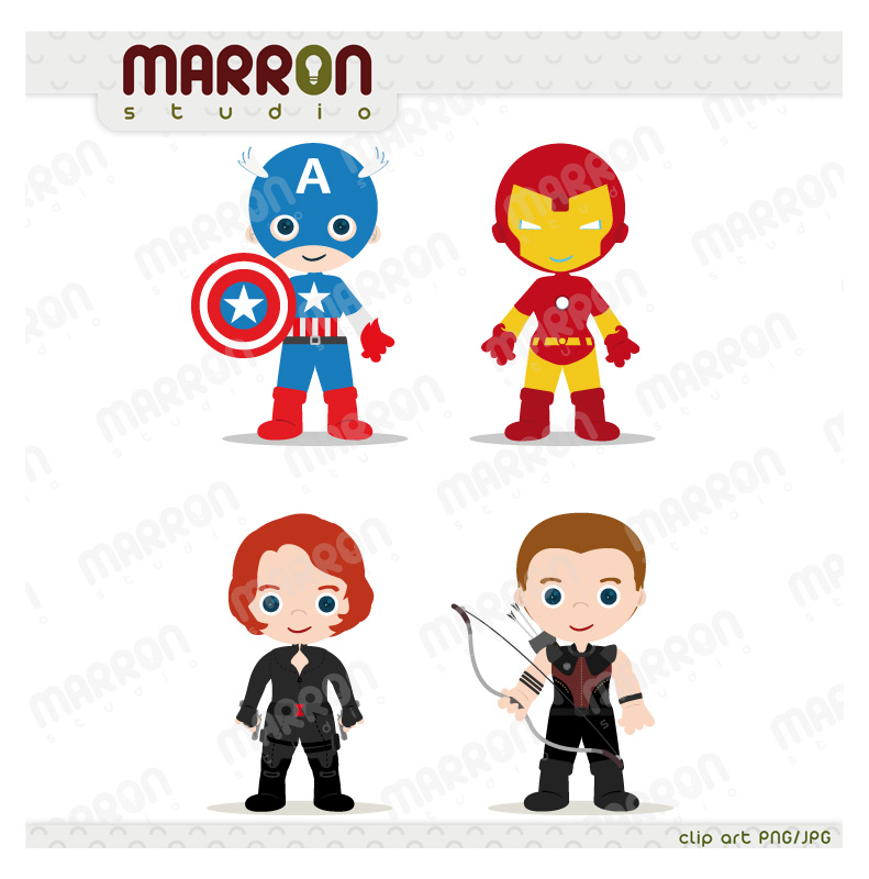 Flash clipart avenger Kids  set Marron clip
