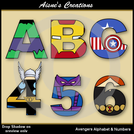 Flash clipart avenger Numbers The Letters Clip Numbers