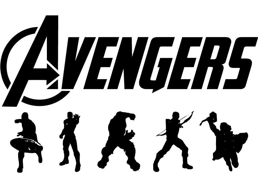 Flash clipart avenger Silhouette svg Avenger Superhero files