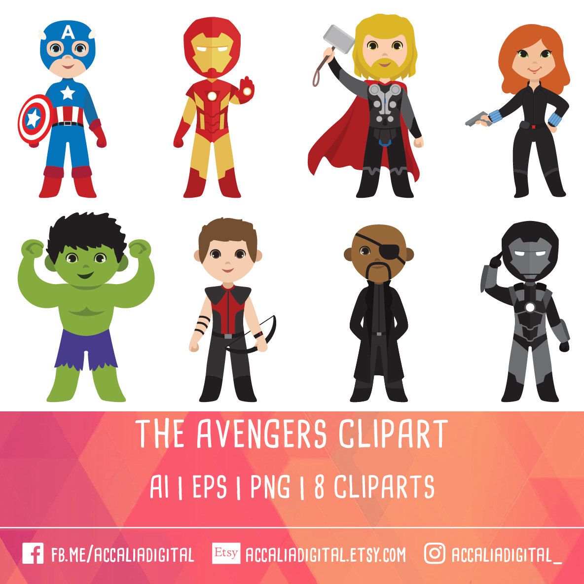 Flash clipart avenger Avengers 20% Hero Etsy Superhero