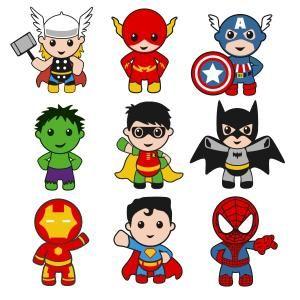 Spiderman clipart batman superman Baby Superhero Captain Hulk with