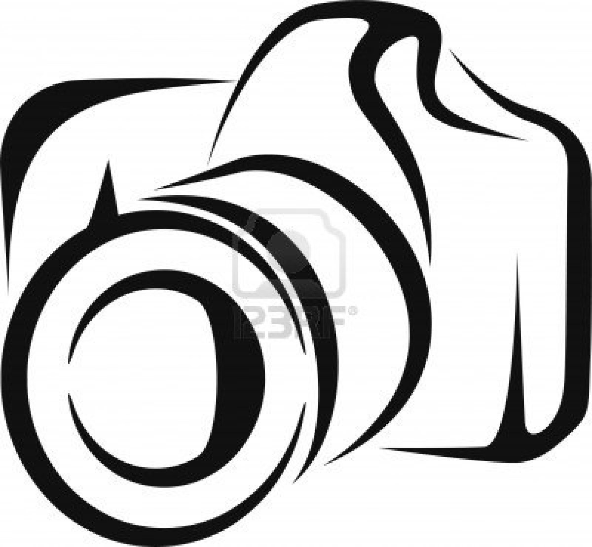 Dslr clipart black and white Camera Camera Panda collection Animation