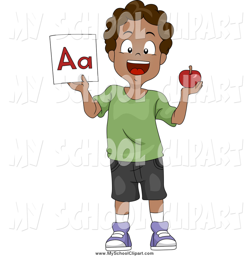 Flash clipart boy And and School of a
