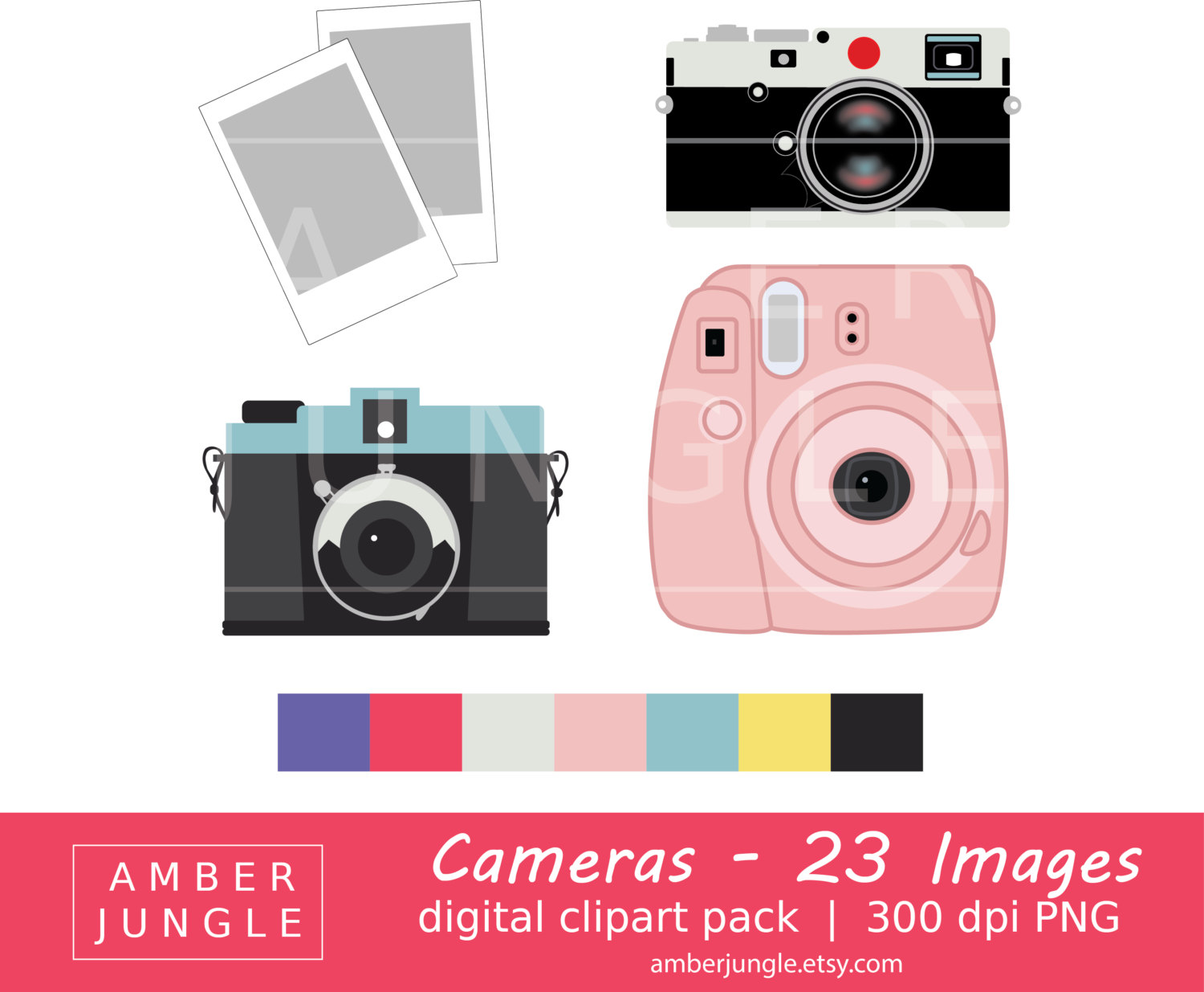 Flash clipart digital photography Photography Camera Instax Art Download!