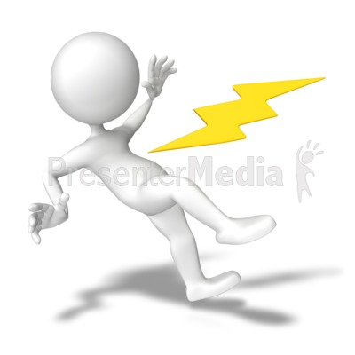 Electrical clipart electric shock PowerPoint With Clipart Clip Shocked