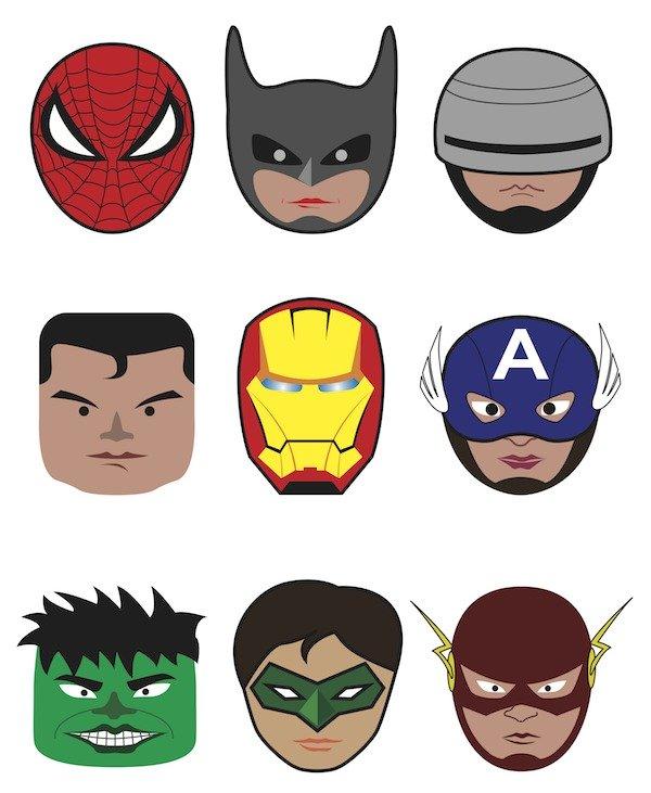 Flash clipart face 4 art Superhero Superhero com