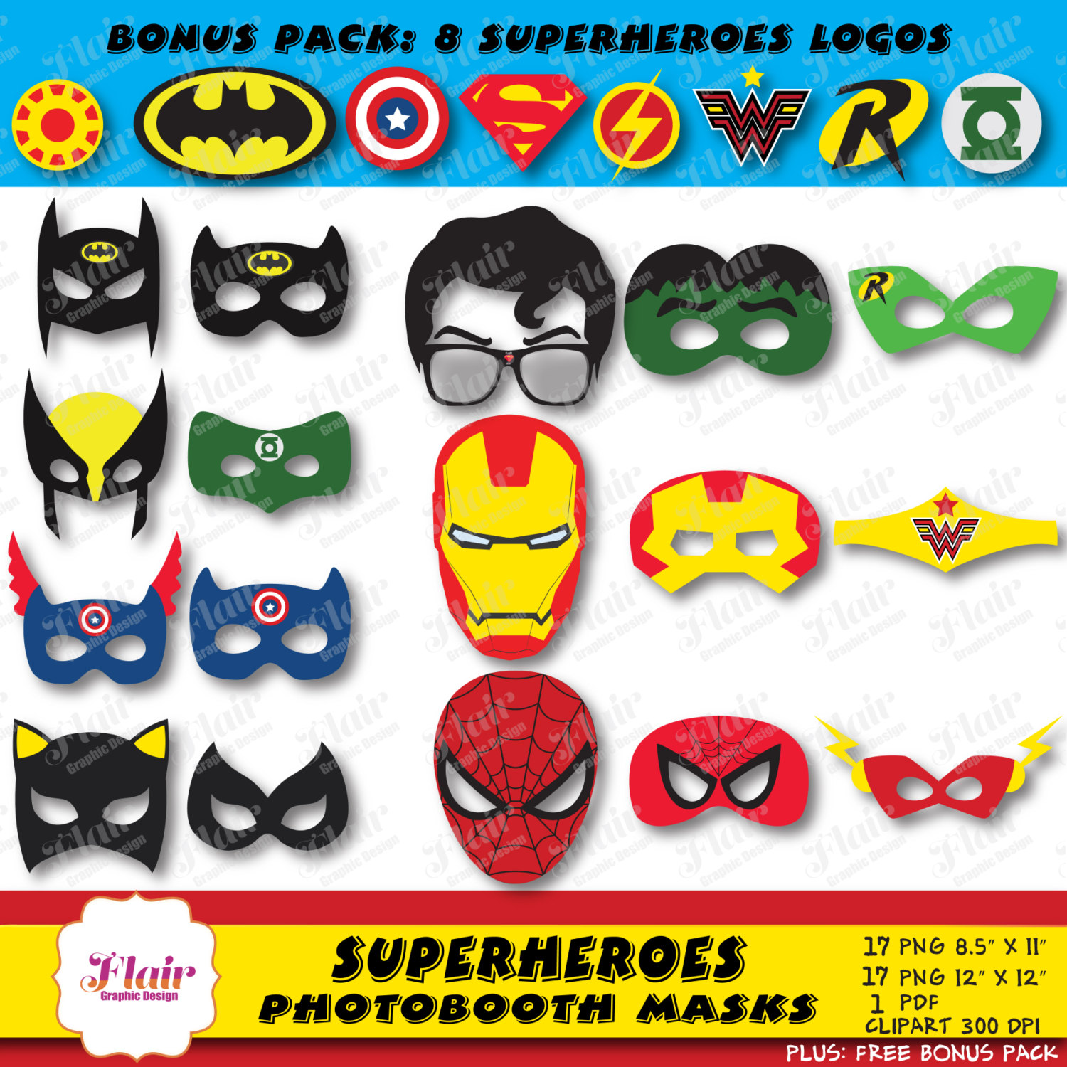 Flash clipart iron man Booth Props Clipart Photo clipart