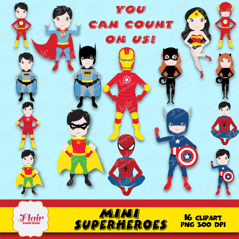 Mini clipart superheroes Superman Cat Justice and Digital