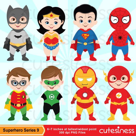Spiderman clipart cartoon character Clipart Clip Digital Cute Superhero