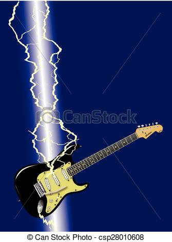 Flash clipart lightning strike Vector Guitar A Lightning Guitar