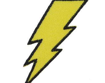 Flash clipart lightning strike Zap Iron On Strike Symbol
