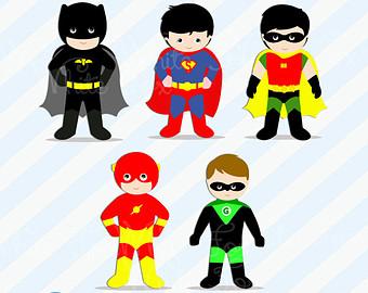 Flash clipart little superhero / Super Clipart SALE /