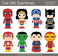 Flash clipart little superhero For Cute batman  set