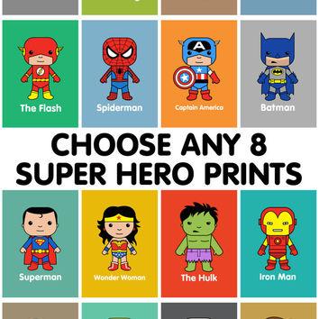 Flash clipart marvel hero Wall art Heroes Batman wall