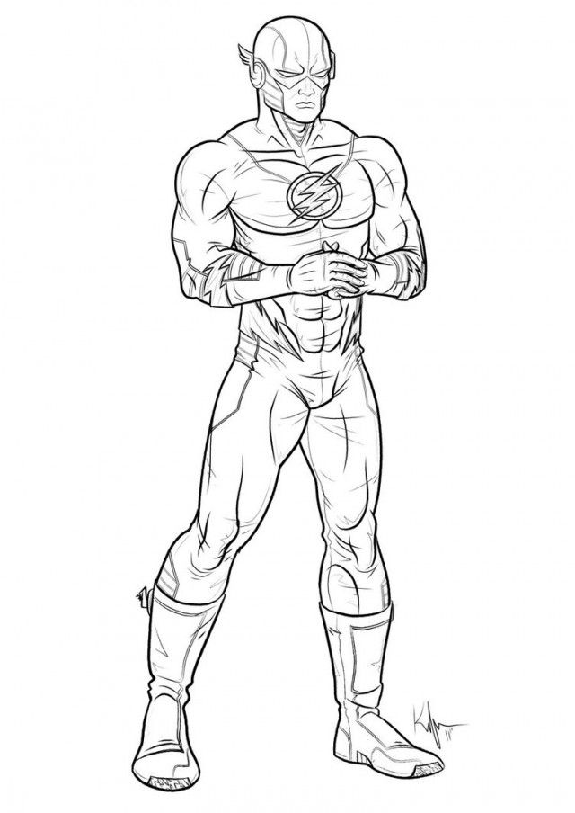 Flash clipart marvel hero Stepathon Pages superhero Coloring Coloring