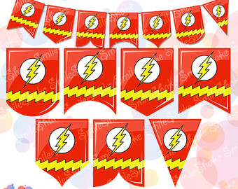 Flash clipart party Flags Birthday Etsy Garlands Flash