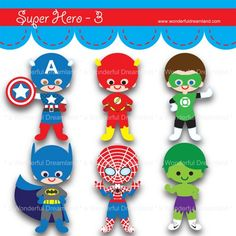 Flash clipart party PartySuper Clip Digital Printable Hero
