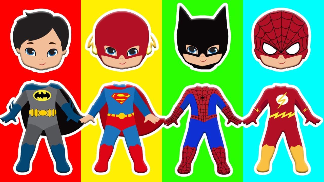 Spiderman clipart batman superman Heads for Heads Batman Batman