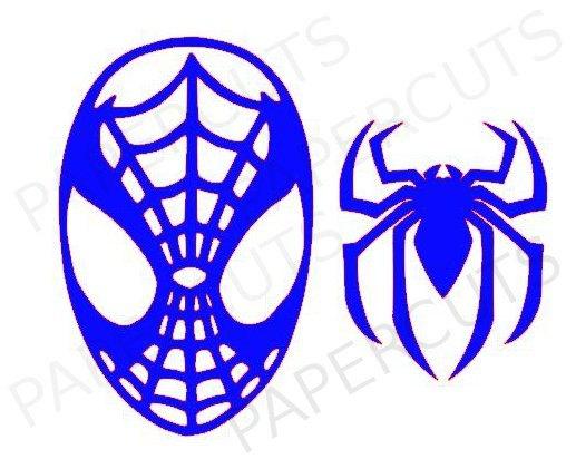 Spiderman clipart silhouette & Green cut & Superman