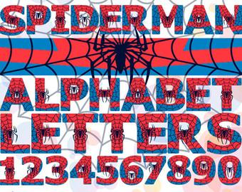Spiderman clipart letter Birthday Alphabet Letters clipart Clip