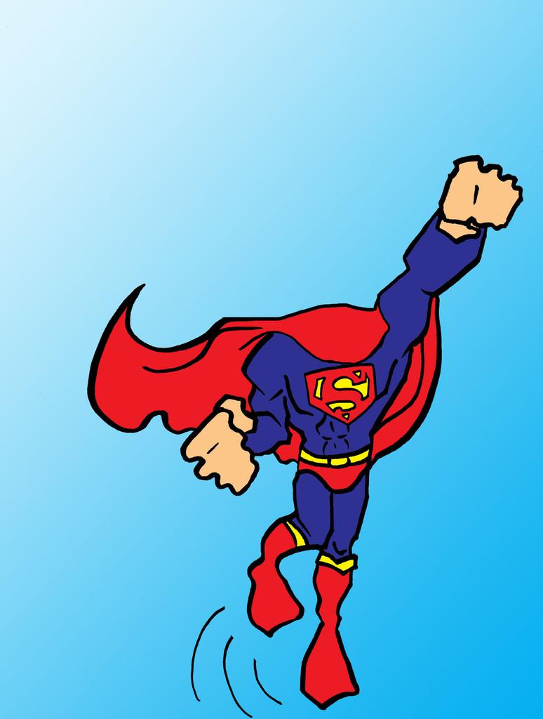 Flash clipart superhero body Clip Free  clipart Superman