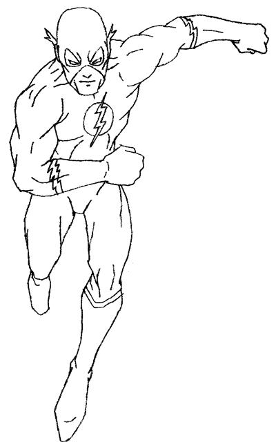 Flash clipart superhero body  by Hero Tutorial Drawing