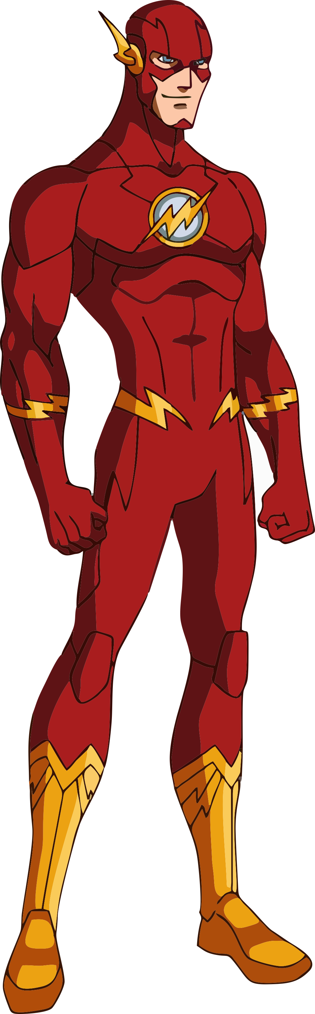 Flash clipart superhero body The png Heróis more! (1005×3228)