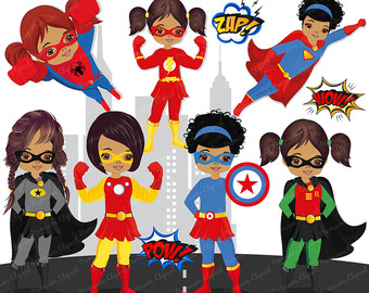 Flash clipart superhero character Girl superhero clipart clipart superhero