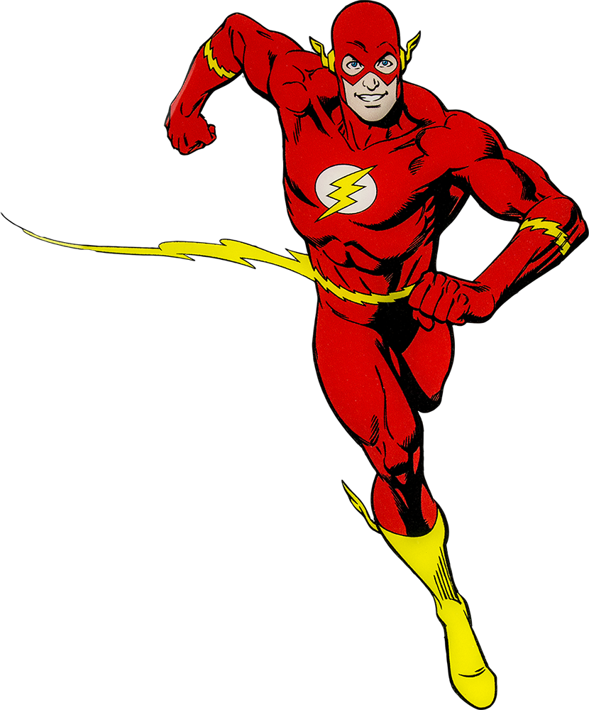 Flash clipart superhero character #7