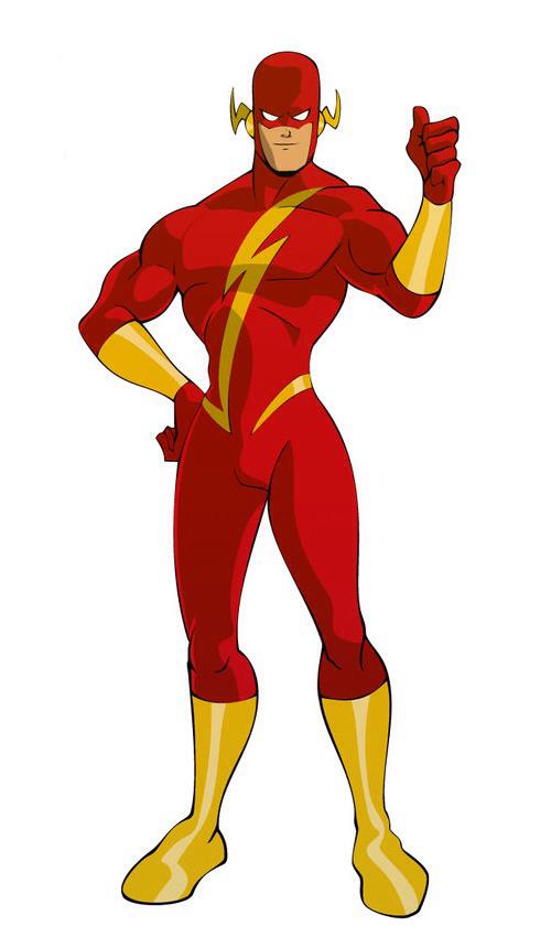 Flash clipart superhero character #6