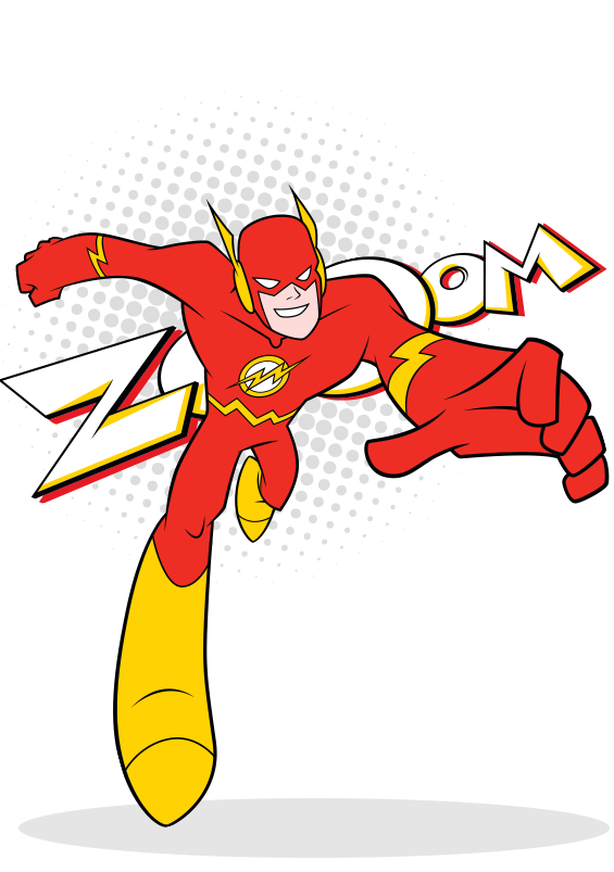 Flash clipart superhero character #12