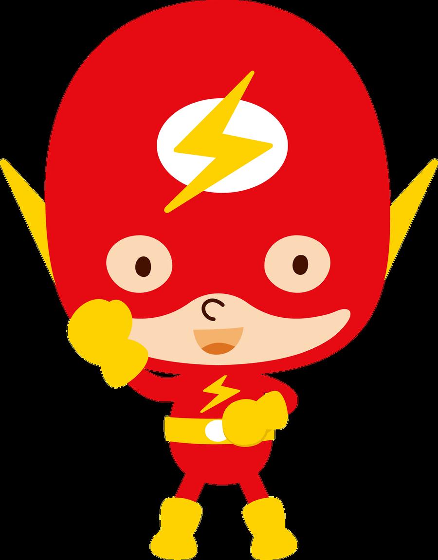 Flash clipart superhero character #10
